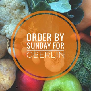 Oberlin holiday shares are Wednesday, December 16! Order yours today at cityfresh.org before the Sunday online ordering deadline!