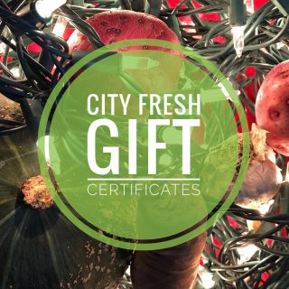 Give the gift of City Fresh! Gift certificates for 2021 shares are available. Email annakiss@cityfresh.org or call 440-707-6606 to reserve yours!