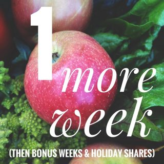 We can't believe it...somehow it's already the FINAL week of the (regular) season! 😭😭😭 But, if you select either Coventry, Oberlin, or Lakewood as your pickup location, more (bonus and holiday) weeks will magically appear!   Don't skip a beet! Order for our final week for any location, or for your bonus/holiday share, at cityfresh.org 🍓  #cityfresh #csa #eatlocal #shoplical