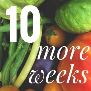 There are 10 more weeks left in the season! Sign up for one week or all 10. Get on this veggie train while there's still time!  Don't forget to get your order in by 11:59pm tonight for pick up on Tuesday. 🍓  #cityfresh #csa #eatlocal #shoplocal